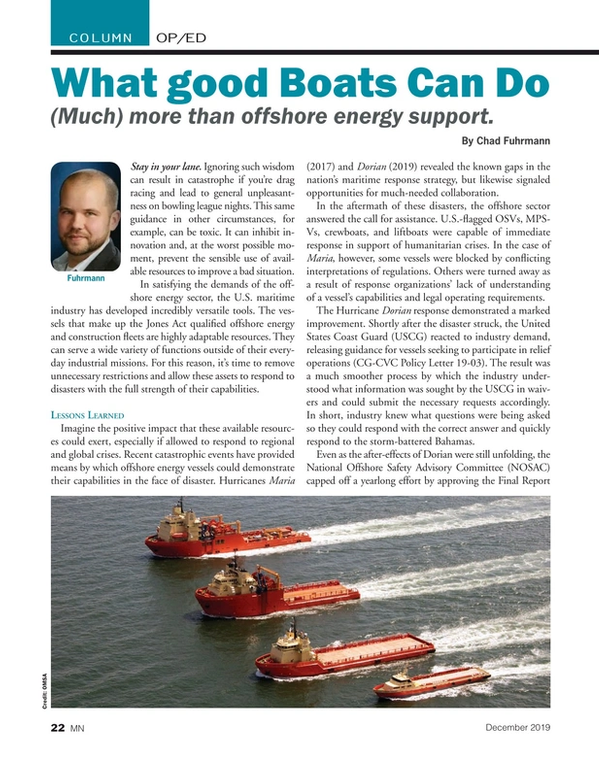 Marine News Magazine, page 22,  Dec 2019