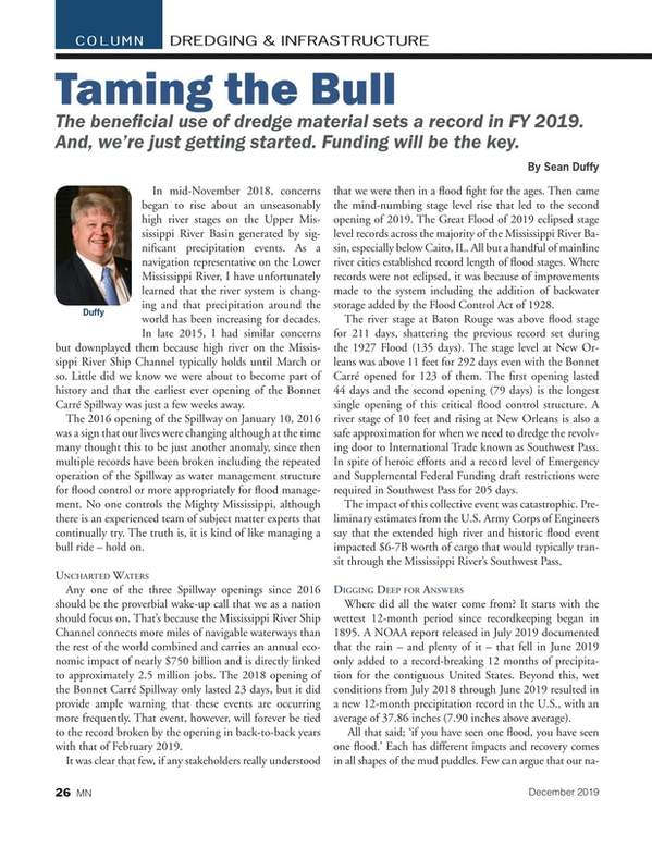 Marine News Magazine, page 26,  Dec 2019