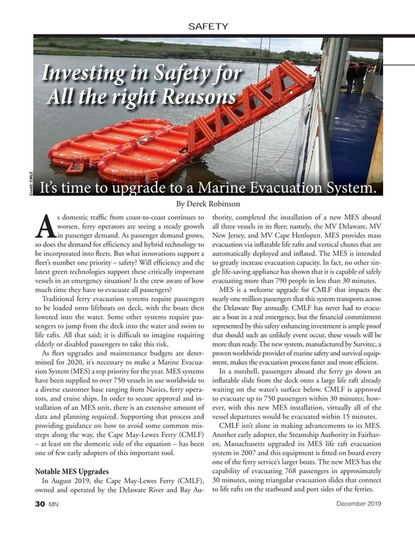 Marine News Magazine, page 30,  Dec 2019