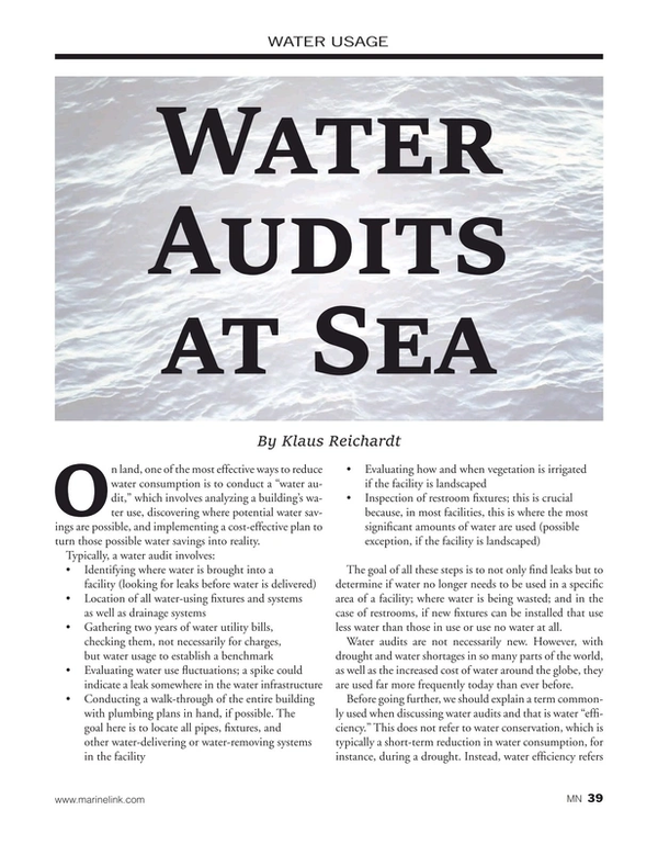 Marine News Magazine, page 39,  Jan 2020