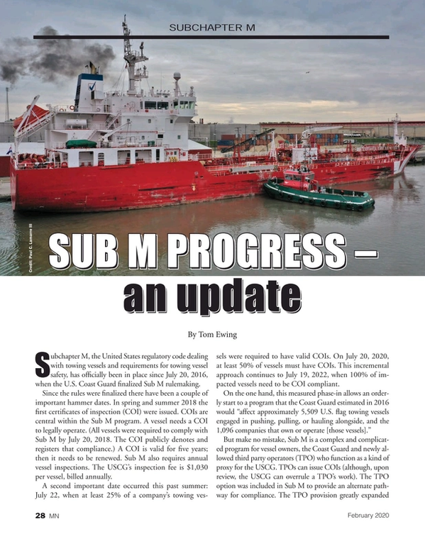 Marine News Magazine, page 28,  Feb 2020