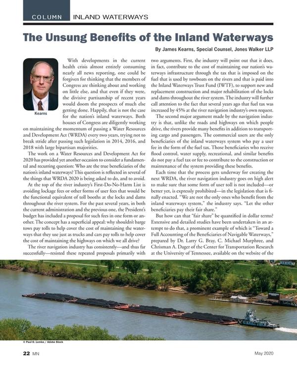Marine News Magazine, page 22,  May 2020