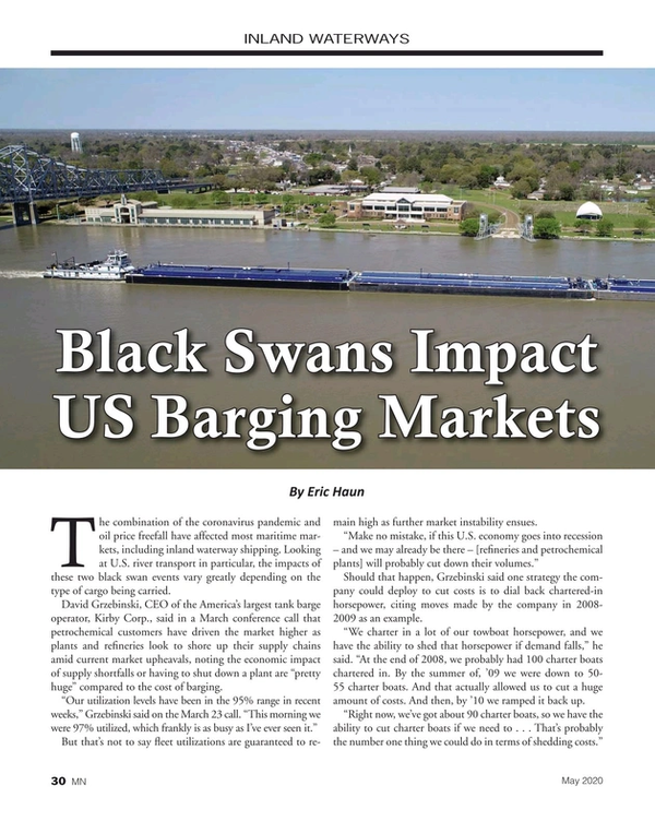 Marine News Magazine, page 30,  May 2020