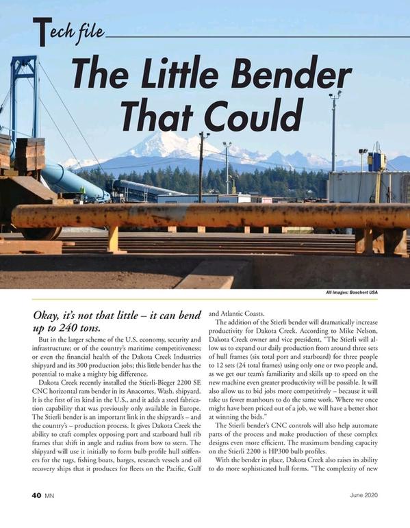 Marine News Magazine, page 40,  Jun 2020