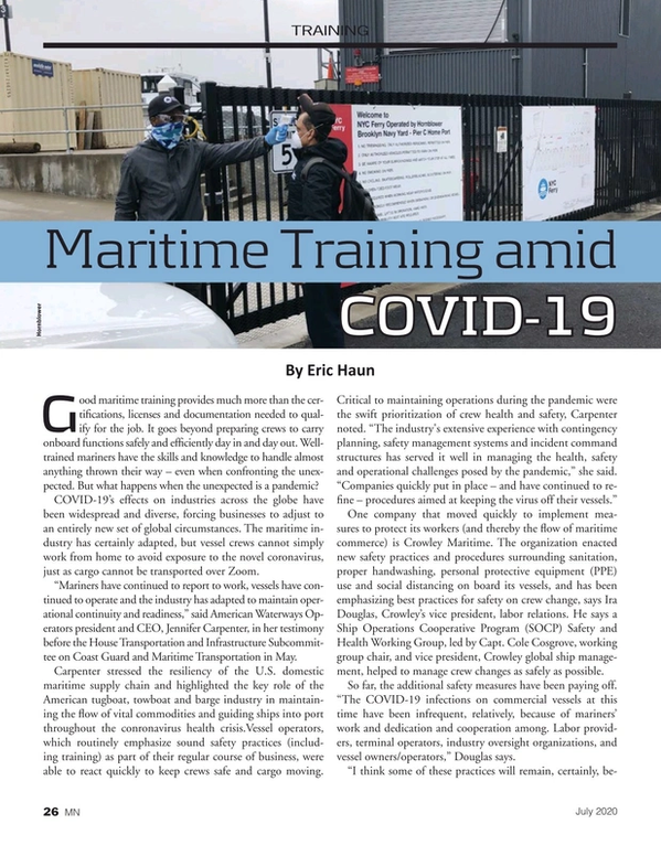 Marine News Magazine, page 26,  Jul 2020
