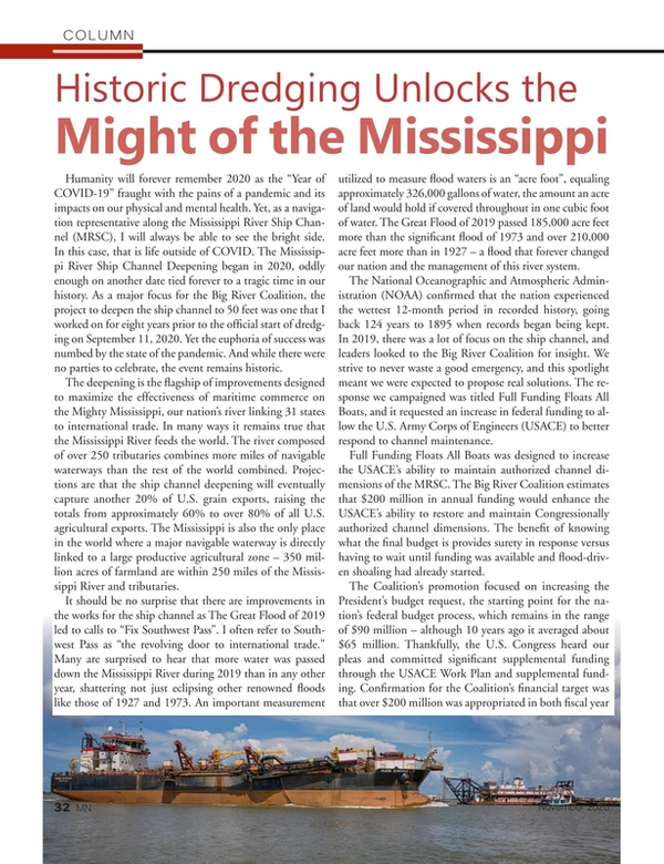 Marine News Magazine, page 32,  Nov 2020
