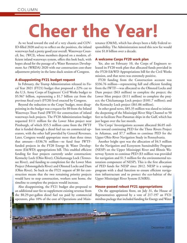Marine News Magazine, page 8,  Dec 2020