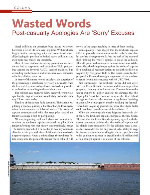 Marine News Magazine, page 10,  Dec 2020