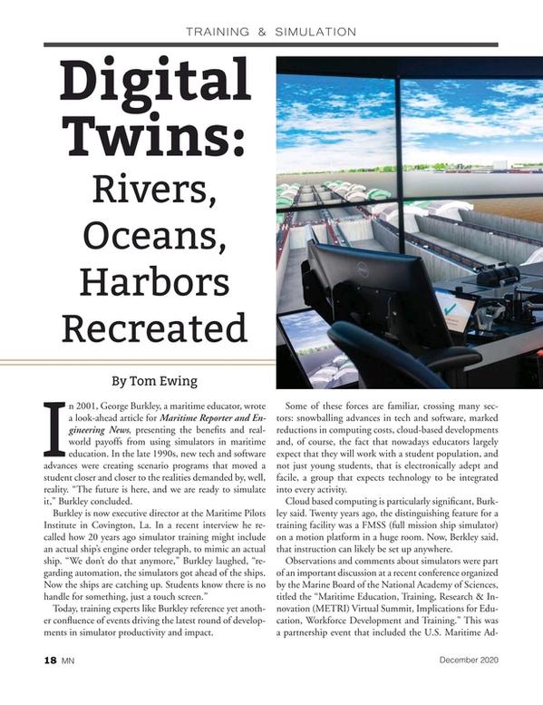 Marine News Magazine, page 18,  Dec 2020