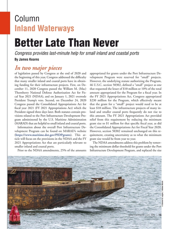 Marine News Magazine, page 15,  Mar 2021