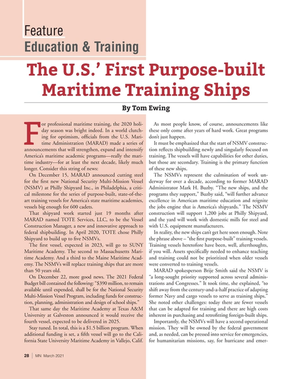 Marine News Magazine, page 28,  Mar 2021