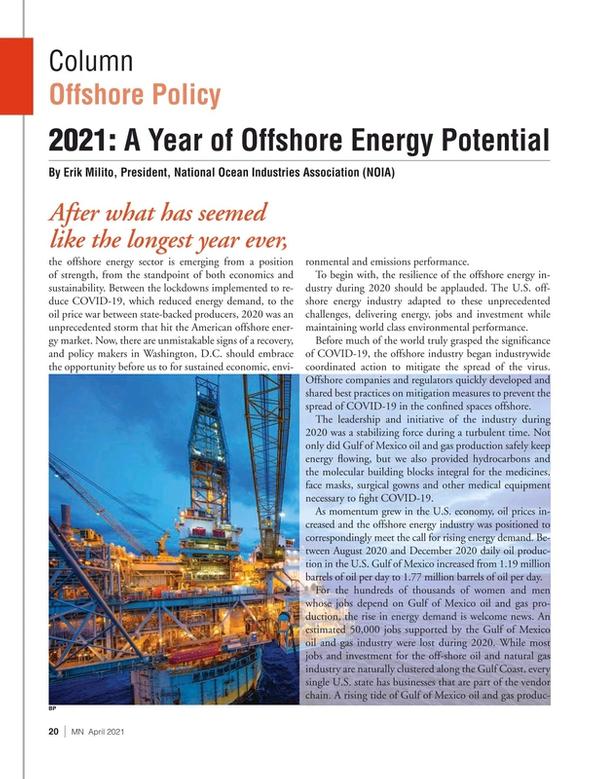 Marine News Magazine, page 20,  Apr 2021