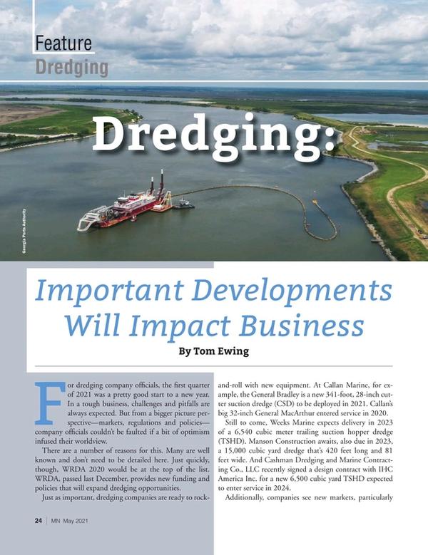 Marine News Magazine, page 24,  May 2021