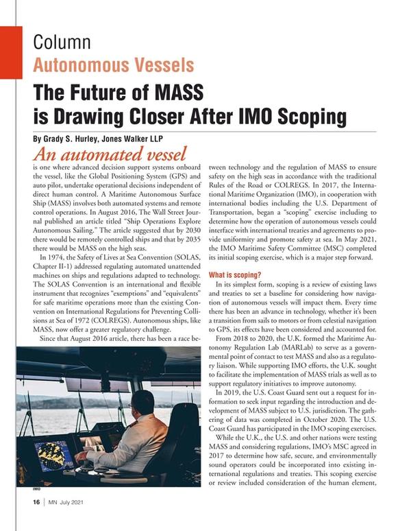 Marine News Magazine, page 16,  Jul 2021