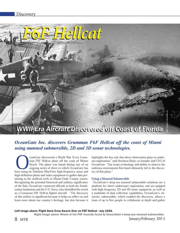 Marine Technology Magazine, page 8,  Jan 2013