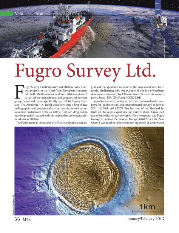 Marine Technology Magazine, page 36,  Jan 2013