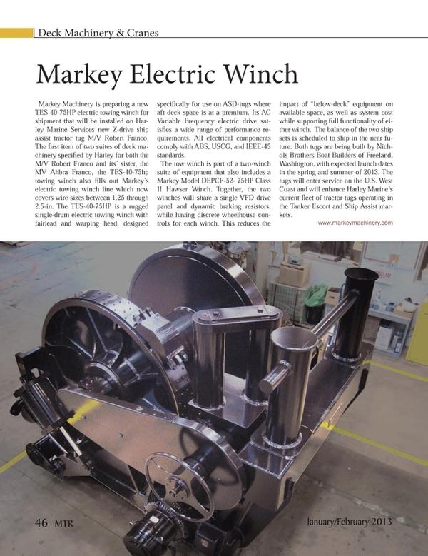 Marine Technology Magazine, page 46,  Jan 2013