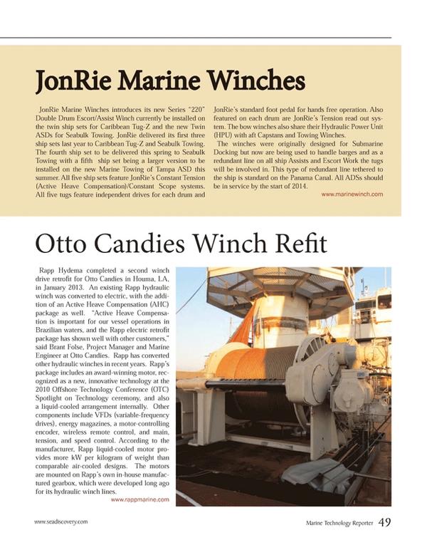 Marine Technology Magazine, page 49,  Jan 2013