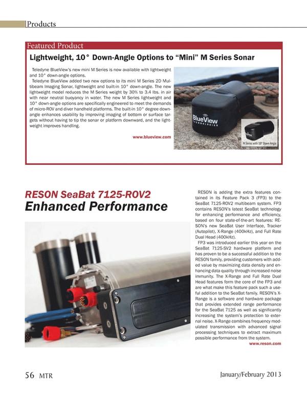 Marine Technology Magazine, page 56,  Jan 2013