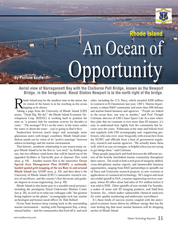 Marine Technology Magazine, page 35,  Mar 2013