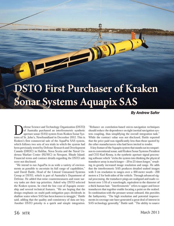Marine Technology Magazine, page 56,  Mar 2013