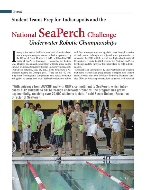 Marine Technology Magazine, page 8,  Apr 2013 India