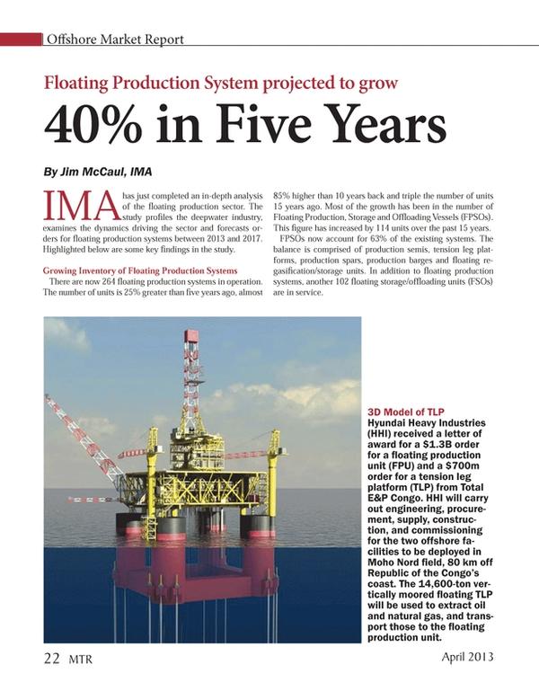 Marine Technology Magazine, page 22,  Apr 2013