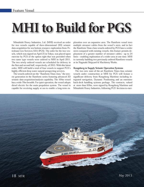 Marine Technology Magazine, page 18,  May 2013