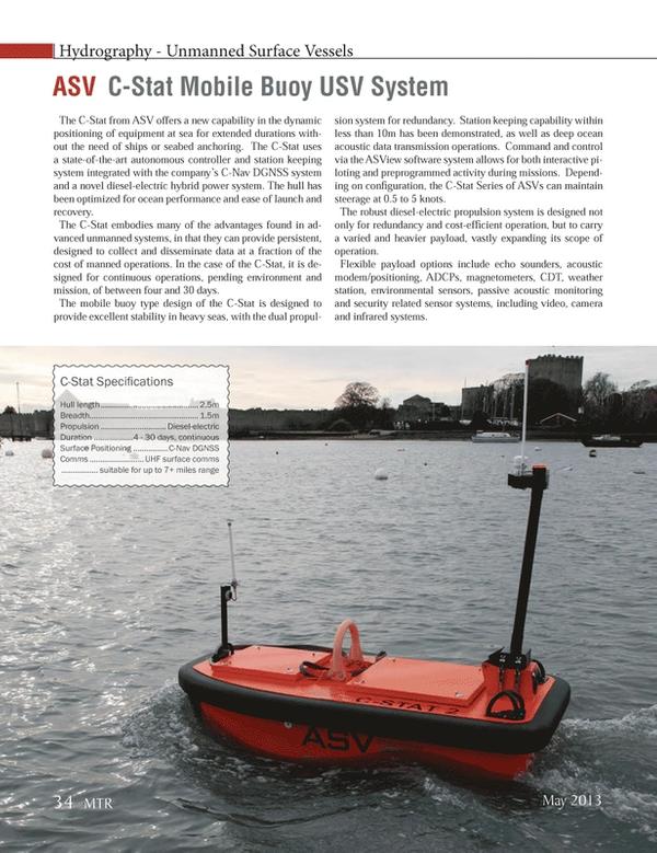Marine Technology Magazine, page 34,  May 2013