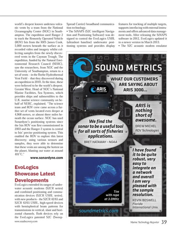 Marine Technology Magazine, page 39,  May 2013