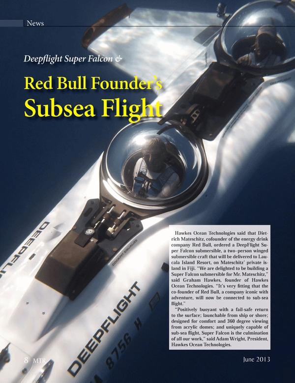 Marine Technology Magazine, page 8,  Jun 2013 Hawkes Ocean Tec