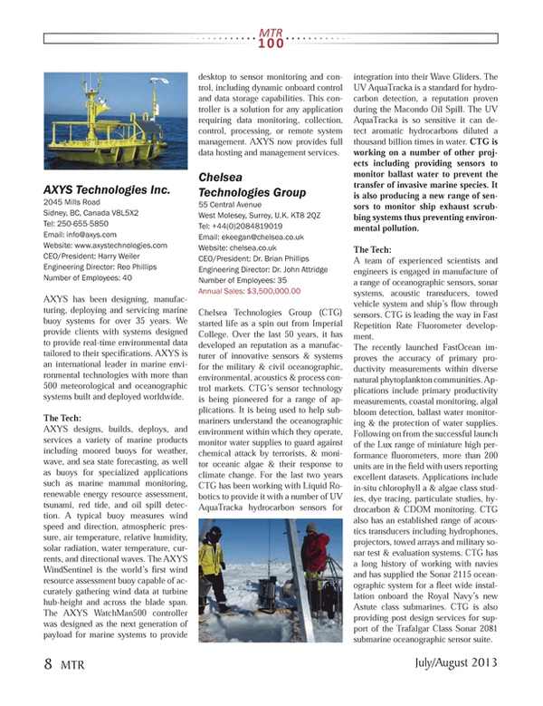 Marine Technology Magazine, page 8,  Jul 2013 radiation