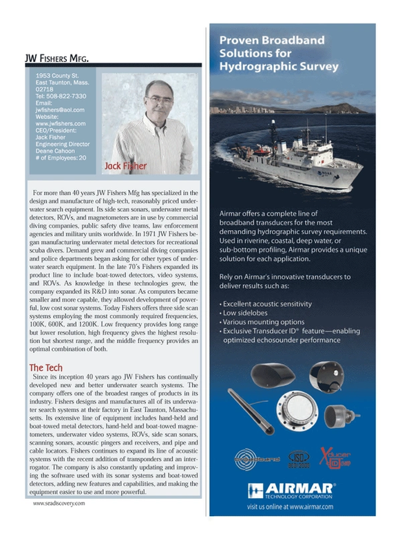 Marine Technology Magazine, page 13,  Jul 2013 Jack Fisher Jack