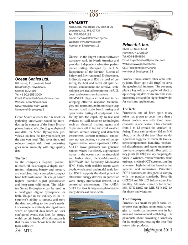 Marine Technology Magazine, page 24,  Jul 2013