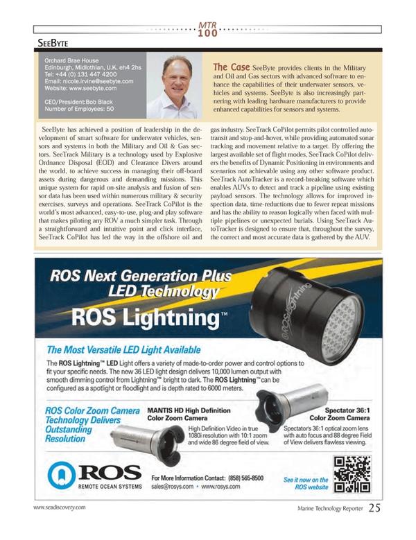 Marine Technology Magazine, page 25,  Jul 2013 plug-and play software