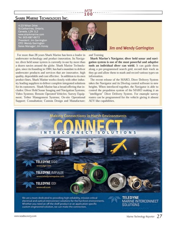 Marine Technology Magazine, page 27,  Jul 2013 Held Sonar
