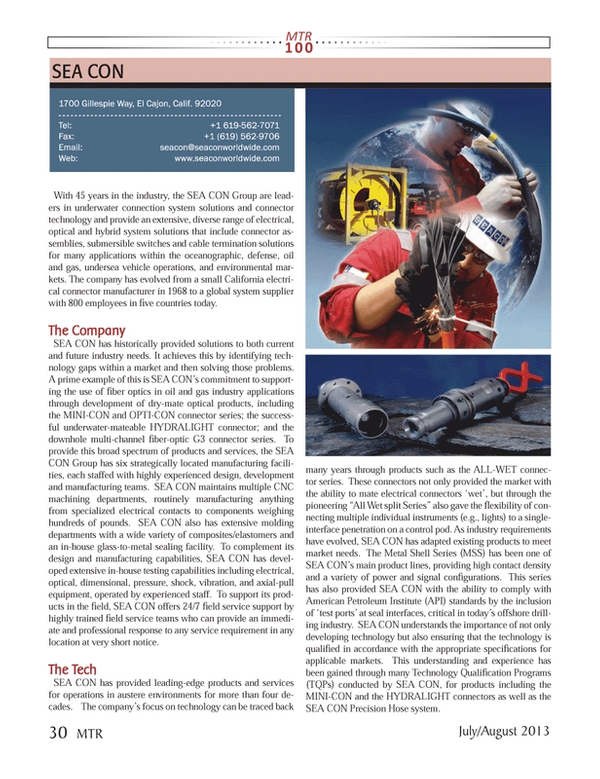 Marine Technology Magazine, page 30,  Jul 2013