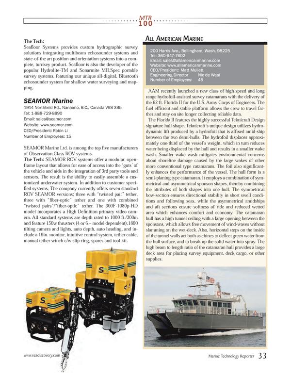 Marine Technology Magazine, page 33,  Jul 2013 Robin Li