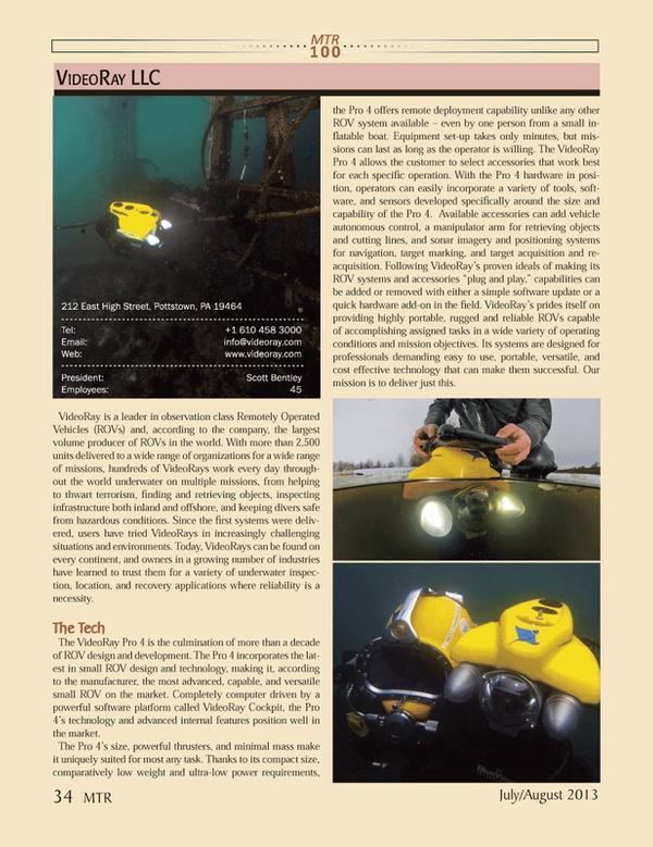 Marine Technology Magazine, page 34,  Jul 2013 Software platform