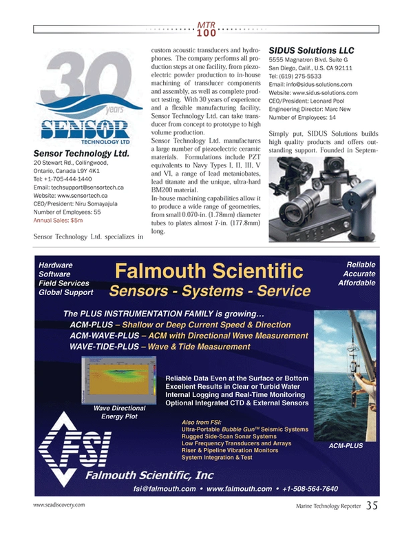 Marine Technology Magazine, page 35,  Jul 2013 Leonard Pool