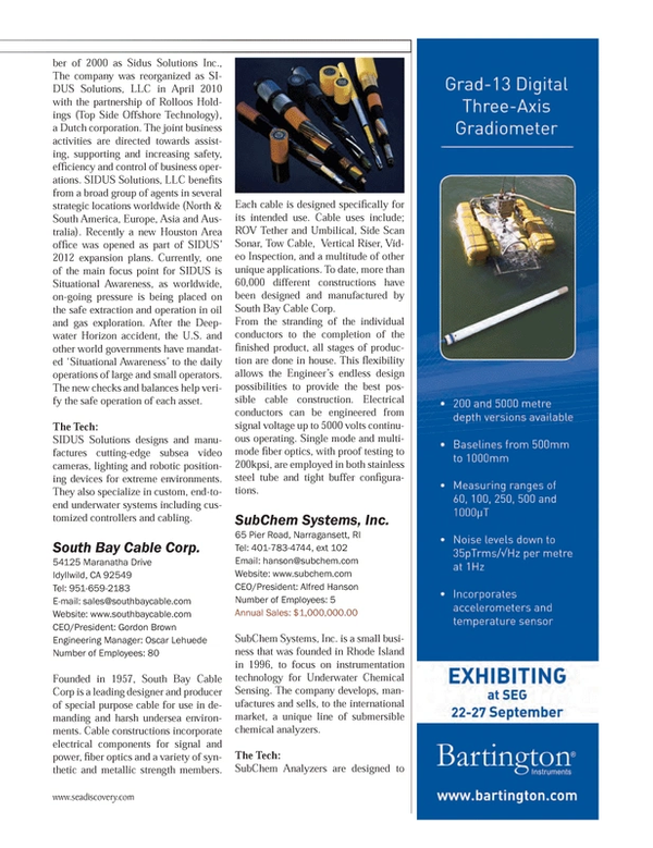Marine Technology Magazine, page 37,  Jul 2013 Rhode Island