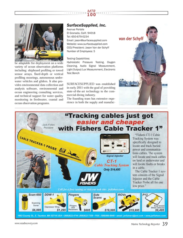 Marine Technology Magazine, page 39,  Jul 2013