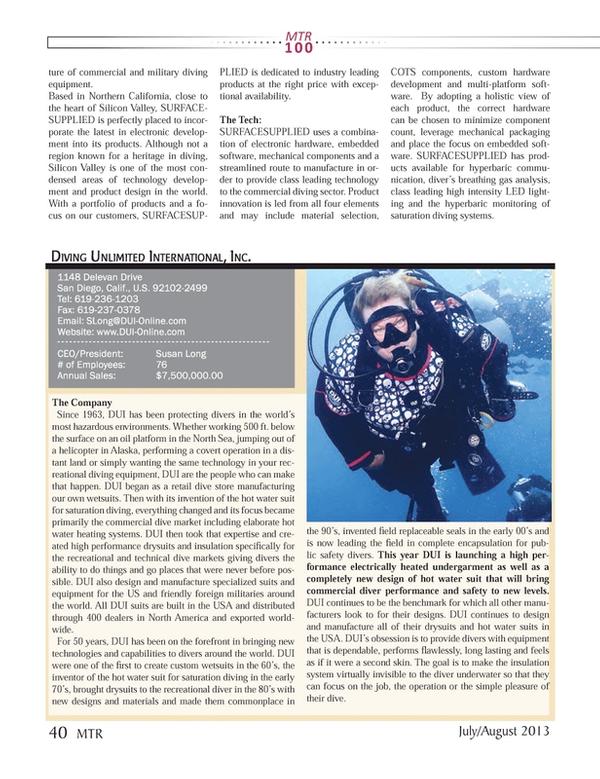 Marine Technology Magazine, page 40,  Jul 2013
