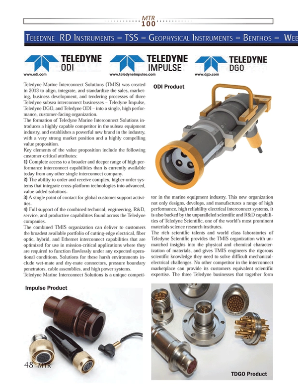Marine Technology Magazine, page 48,  Jul 2013