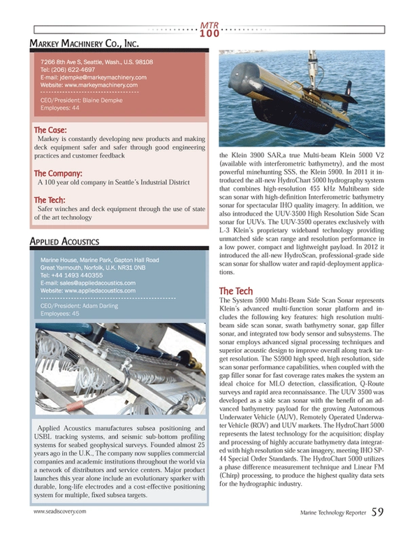 Marine Technology Magazine, page 59,  Jul 2013