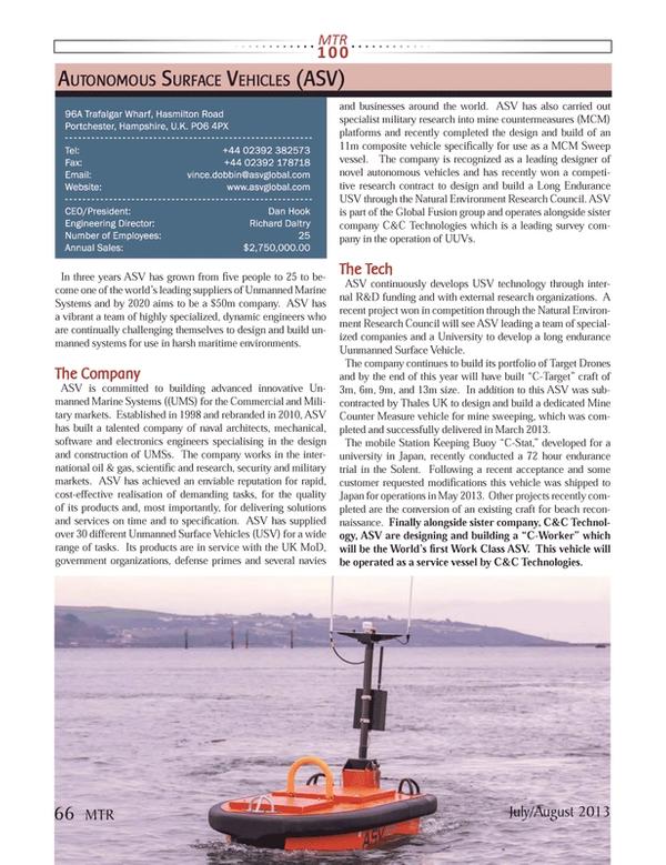 Marine Technology Magazine, page 66,  Jul 2013