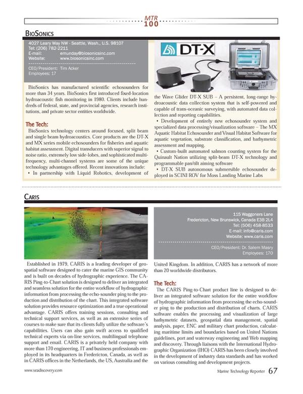 Marine Technology Magazine, page 67,  Jul 2013 United Nations
