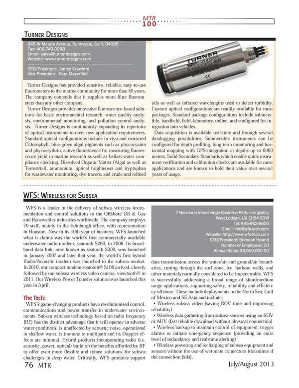 Marine Technology Magazine, page 76,  Jul 2013 GPS