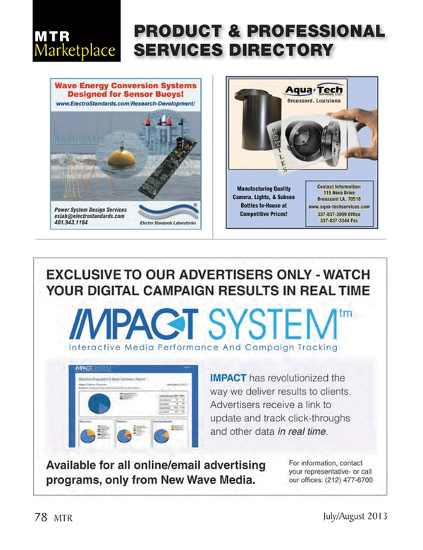 Marine Technology Magazine, page 78,  Jul 2013