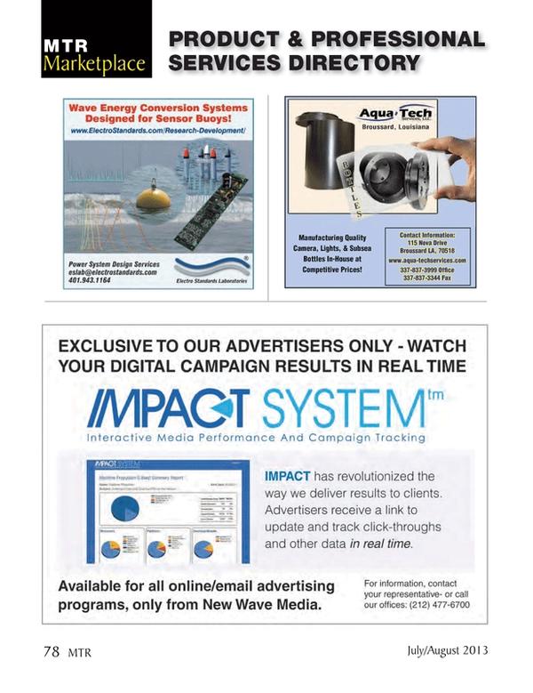 Marine Technology Magazine, page 78,  Jul 2013